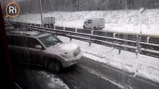 24 апреля, ДТП на трассе Пермь Екатеринбург из за снега, ри тв