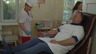 Сотрудники Росгвардии сдают кровь