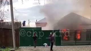 Прохожие спасли мужчину из огня, Краснодар
