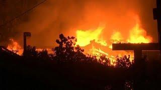Смертоносные пожары в Греции
