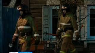 В Боготоле сгорел двухэтажный деревянный дом, один человек погиб
