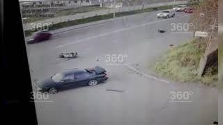 В Петропавловске мотоциклист на огромной скорости врезался в «Тойоту»