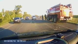 Последствия ДТП с погибшим байкером в Воронеже