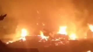 Около 120 кв.метров площади склада сгорело на ул.Брянской Биробиджана(РИА Биробиджан)