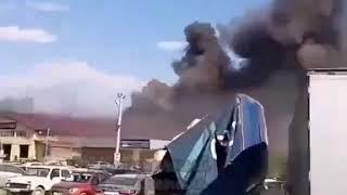 Автомобильный бокс загорелся в Надежде