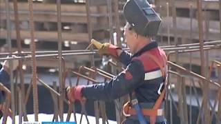 На Красноярской ТЭЦ-1 начали строительство новой дымовой трубы