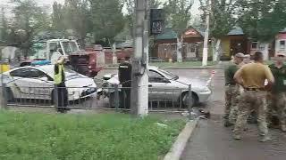 ДТП с участием военных в районе ЖМР «Кировский». Мариуполь. 29.07.2018