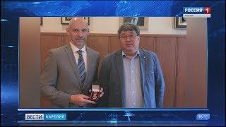 Министр спорта Карелии  удостоен высшей награды Олимпийского комитета России