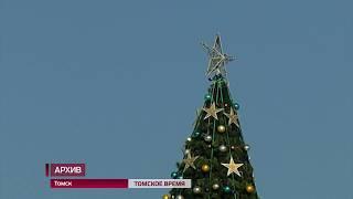 В Томске начали монтаж главной городской ёлки