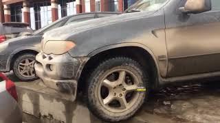 Новосибирск. ДТП на парковке.
