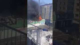 Пожар в воркутинском Автозаряде