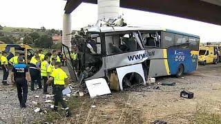В Испании разбился автобус