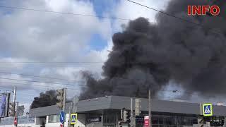 В Санкт-Петербурге возник пожар в автокомплексе «Рольф Лахта Hyundai»