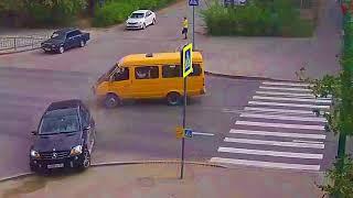 ДТП (авария г.  Волжский) пр. Ленина ул. Комсомольская 10-05-2018 08-10