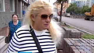 На улице Ленина в Красноярске идет масштабный ремонт
