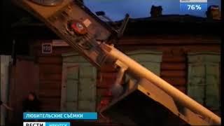 Автомобиль Honda снёс светофор и дорожный знак в Иркутске