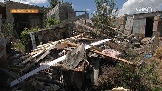 В селе Ясная поляна Предгорного района устраняют последствия удара стихии