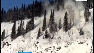 В Курагинском районе с гор сошла снежная лавина