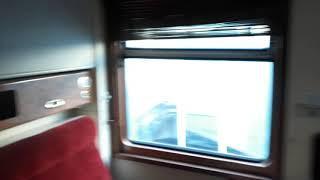 Вагон туристического поезда производства ГДР в музее в Хабаровске