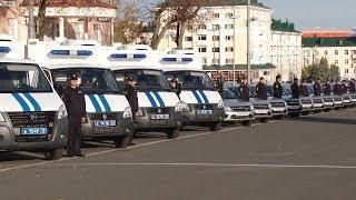 В Саранске прошёл общегородской строевой смотр и развод патрульно постовых нарядов полиции