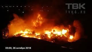 В Красноярске загорелся рынок «Тотем» на Нефтебазе
