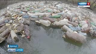 Стихийная свалка появилась на берегу реки Пивоварки