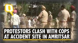 Amritsar Train Accident: Protestors Clash with Police at Site   The Quint