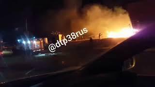 Пожар на рыбном рынке в Култуке