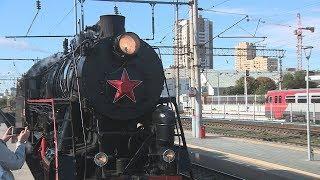 В Волгограде открылась динамическая выставка железнодорожного транспорта