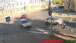 ДТП с пешеходами, Саров, перекресток ул.Мира-пр.Октябрьский, 9 сентября 2018