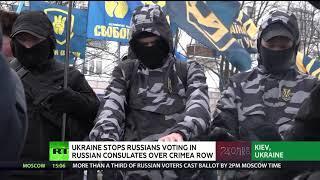 Ukraine stops Russians voting in Russian consulates over Crimea row