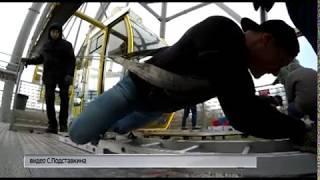 Ярославские силачи сдвинули с места колесо обозрения весом около 220 тонн