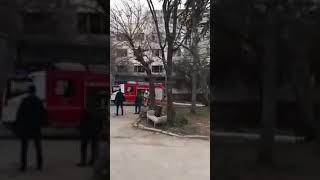 В Ставрополе на улице Спартака загорелась нежилая пятиэтажка