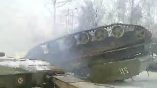В Калининградской области перевернулся танк