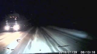 Водитель сбил пьяную девушку на дороге