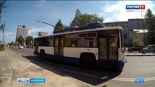 В Петрозаводске на линию вышел первый троллейбус, подаренный Санкт-Петербургом