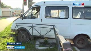 ДТП в Йошкар-Оле: маршрутка столкнулась с иномаркой - Вести Марий Эл