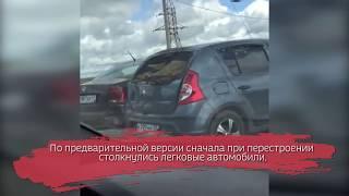 На объезде Вологды столкнулись четыре машины: ВИДЕО