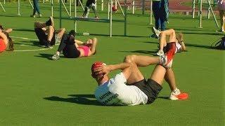 Участник Олимпийских игр Антон Гафаров провёл для югорчан тренировку