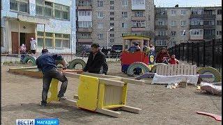 30 небольших детских площадок установят в Магадане