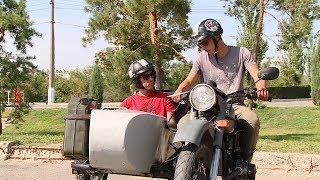 Швейцарские байкеры, путешествующие на мотоцикле «Урал», прибыли в Волгоград
