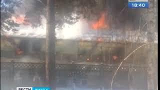 Огромная пробка парализовала утром Свердловский район Иркутска из-за пожара