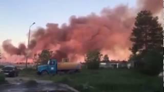 В Усинске горит свалка