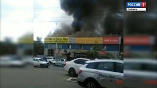 В Иркутске несколько часов тушили пожар в одном из кафе-гостиниц