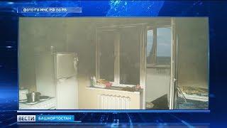 В Башкирии из горящего дома эвакуировали 34 человека
