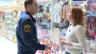 Спасатели показали на примере одного из ТРЦ Костромы, как правильно вести себя при пожарной тревоге