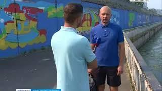 События недели: вандалы расписали свежеотремонтированные стены в центре Красноярска