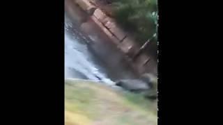 Коммунальная авария: затопило двор на Азина, 21