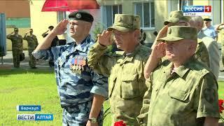 В Барнауле открыли мемориал в память о погибших бойцах ОМОНа