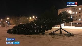 В посёлке Южный завалилась новогодняя ёлка
